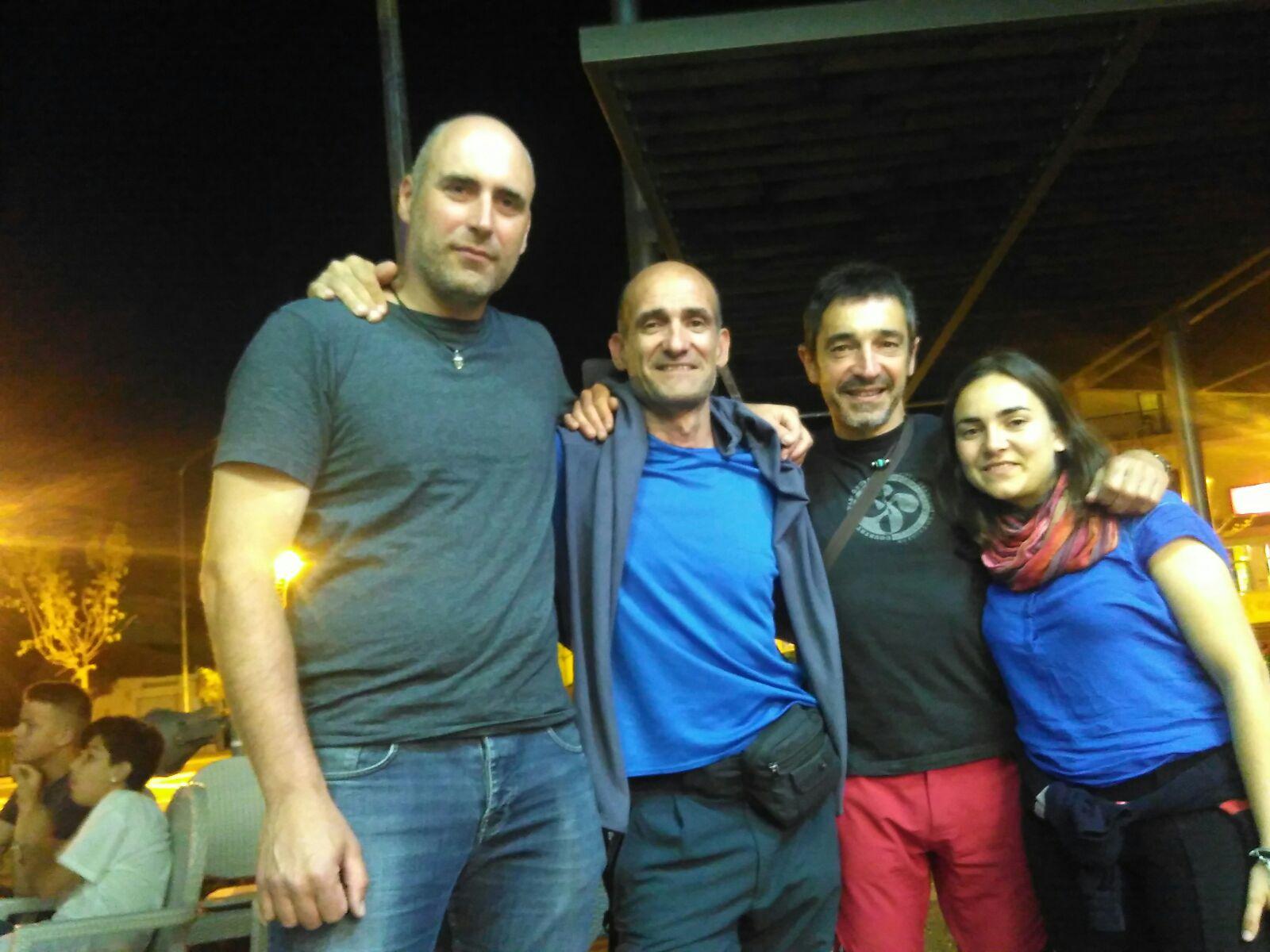 Fernando, Jokin, Eduardo e Inés