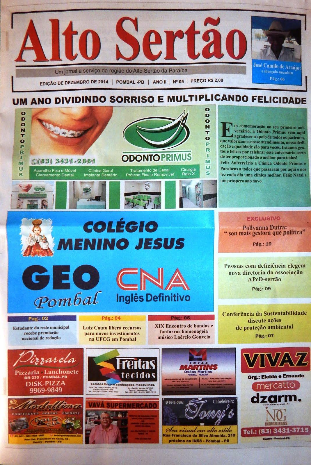 """JORNAL """"ALTO SERTÃO"""" DEZEMBRO/2014"""