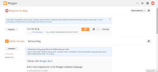 Langkah-langkah mengganti tema blog