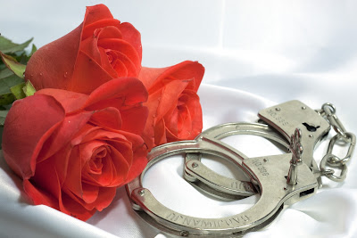 roses with handcuff