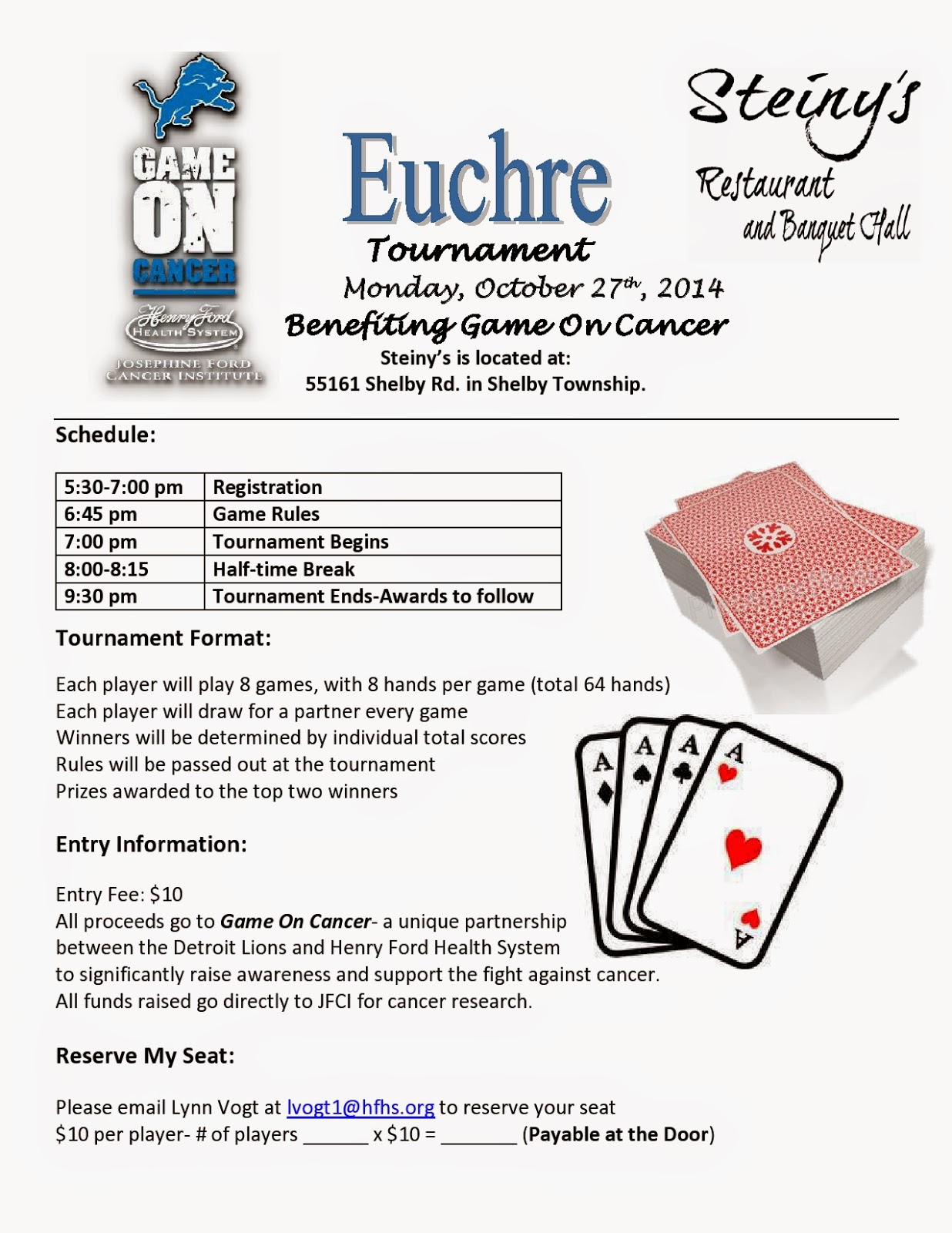 Euchre Tournament Michigan