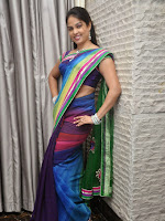 Anchor Chitralekha glamorous in saree-cover-photo