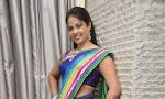 Anchor Chitralekha glamorous in saree-thumbnail