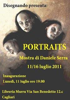 Portraits: mostra di Daniele Serra, locandina
