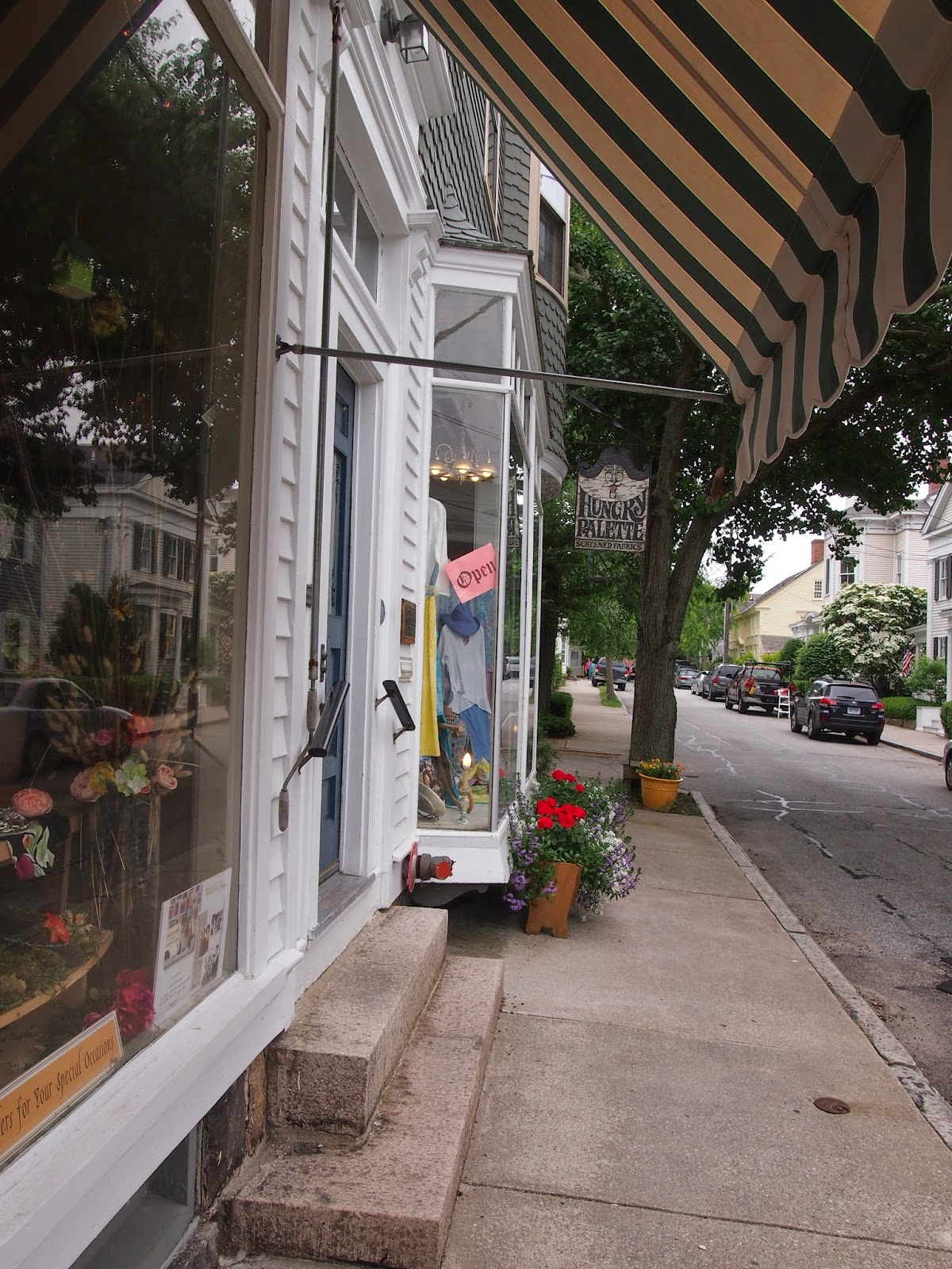 The quaint streets of Stonington