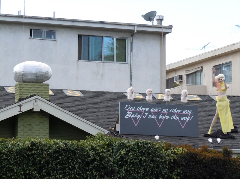 Lady Gaga roof SOS West Hollywood