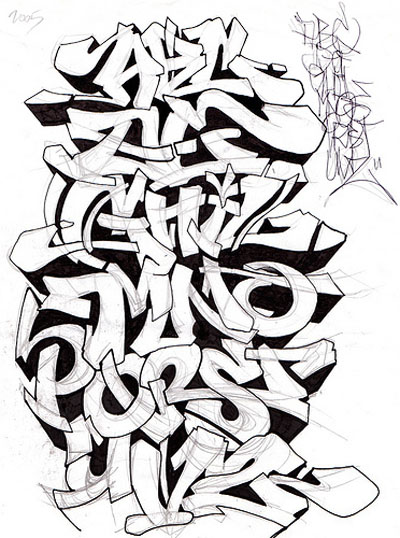 Graffiti alphabet best graffitianz