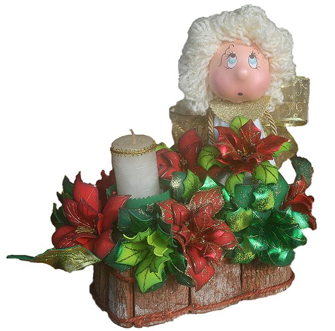 Foamyideas centro de mesa para navidad - Centro mesa navidad ...