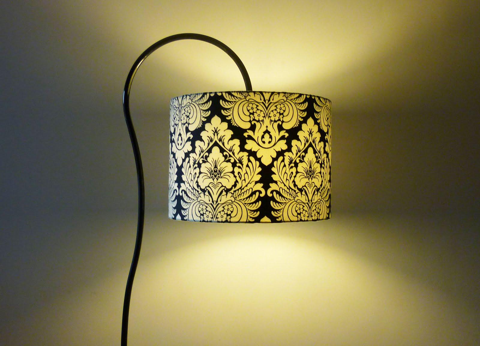 Fabricacion de lamparas y pantallas chile lampara de pie curvo con pantalla 45 cm diametro - Pantallas de lamparas ...