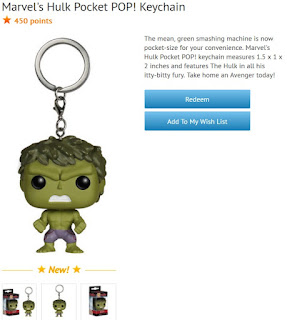 The Hulk Pocket Pop keychain available at Disney Movie Rewards