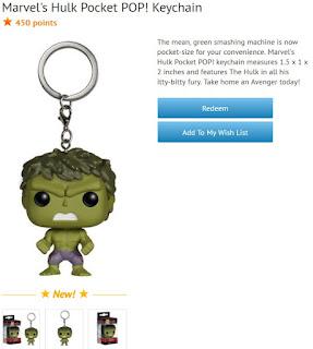 The Hulk Pocket Pop keychain available at Disney Movie Rewards