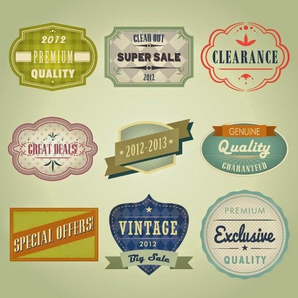 Free Vector Vintage Badges