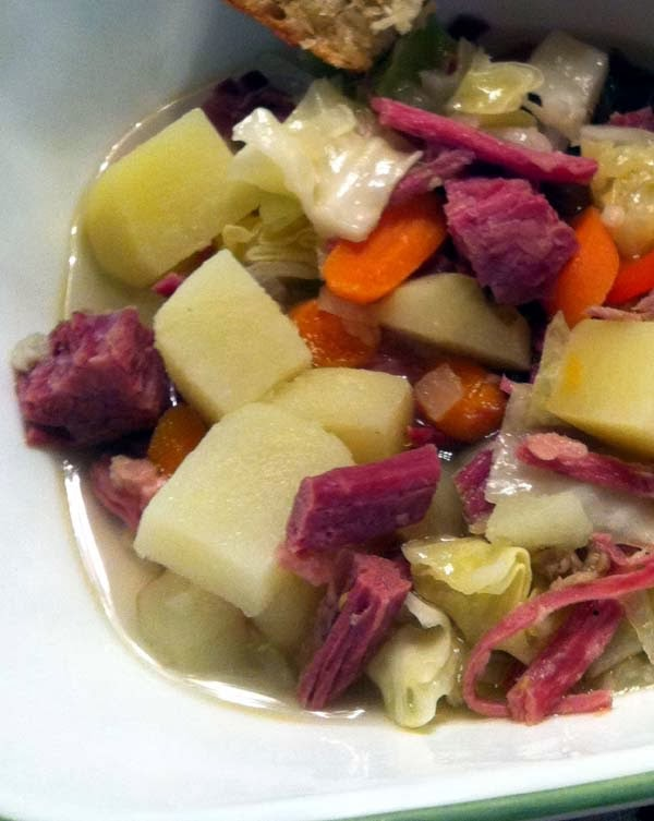 Corned Beef and Cabbage Slow Cooked for St. Patrick's Day.