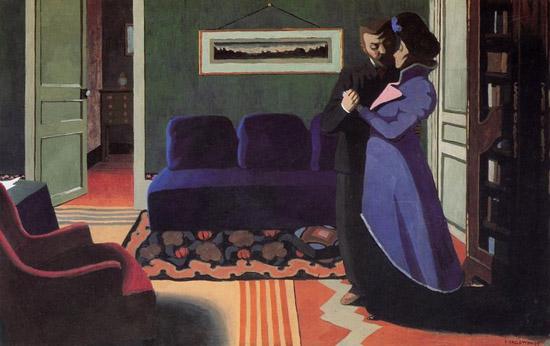 Félix Vallotton: La visite, 1899