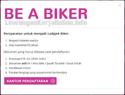 Lowongan Ladyjek Biker