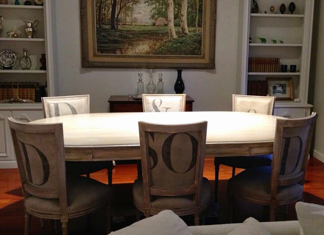 , Muebles Pintados Nuevos y Redecorados Mesa y Sillas de Comedor
