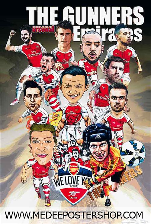 Arsenal Cartoon 2015 Poster