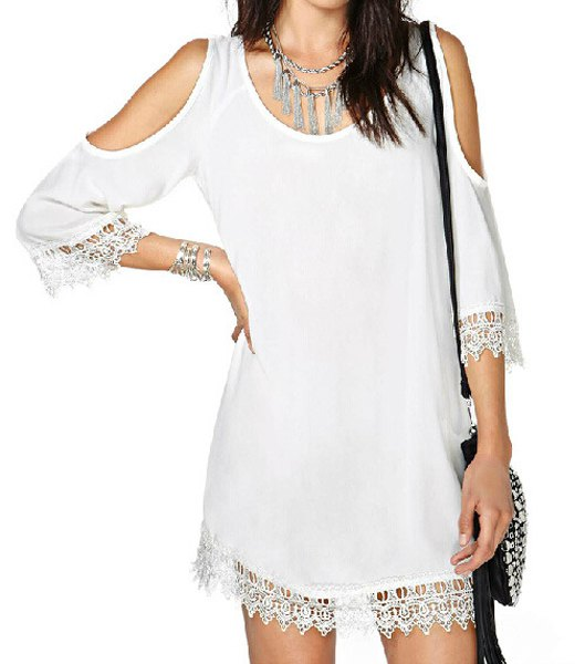 cold shoulder dress, cold shoulder outfit, How to Style a Cold Shoulder Dress, off shoulder lace dress white, rosegal dress, rosegal review, white cold shoulder dress,