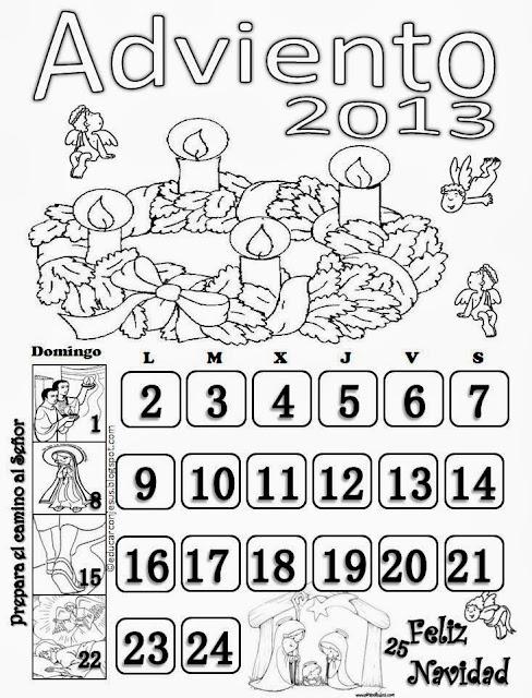 La Catequesis (El blog de Sandra): Calendarios Adviento 2013 para ...