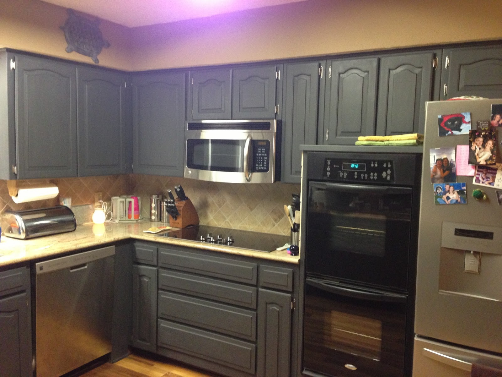 Wilker do 39 s using chalk paint to refinish kitchen cabinets for Painting kitchen cabinets black