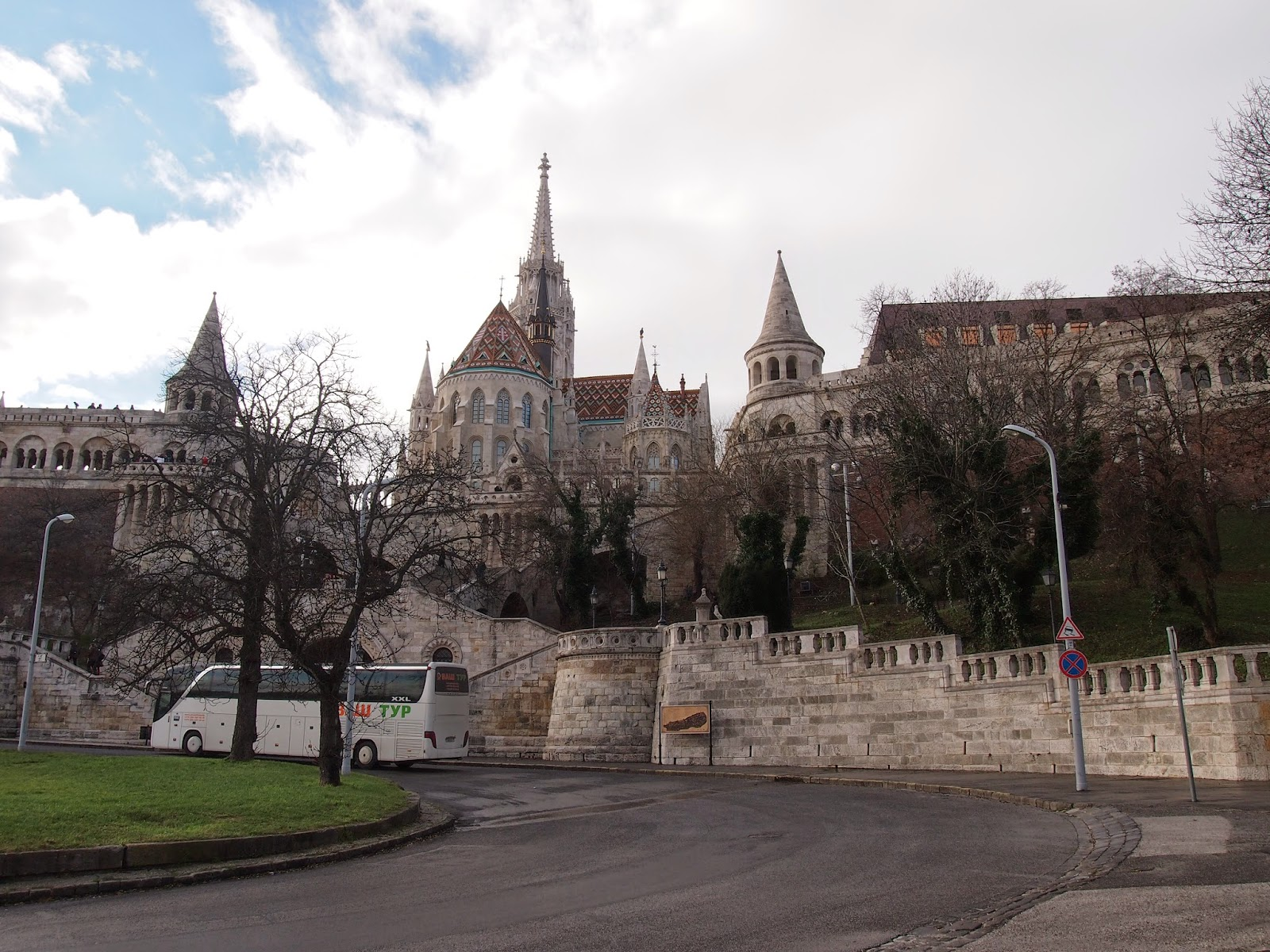 the backside of the Fisherman's Bastion