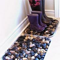 Mit Steinen basteln - Fußmatte selbermachen