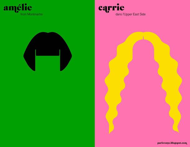 as românticas - Amélie vs Carrie