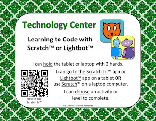 Learning to Code Center by Mrs. J in the Library @ Library Freebies