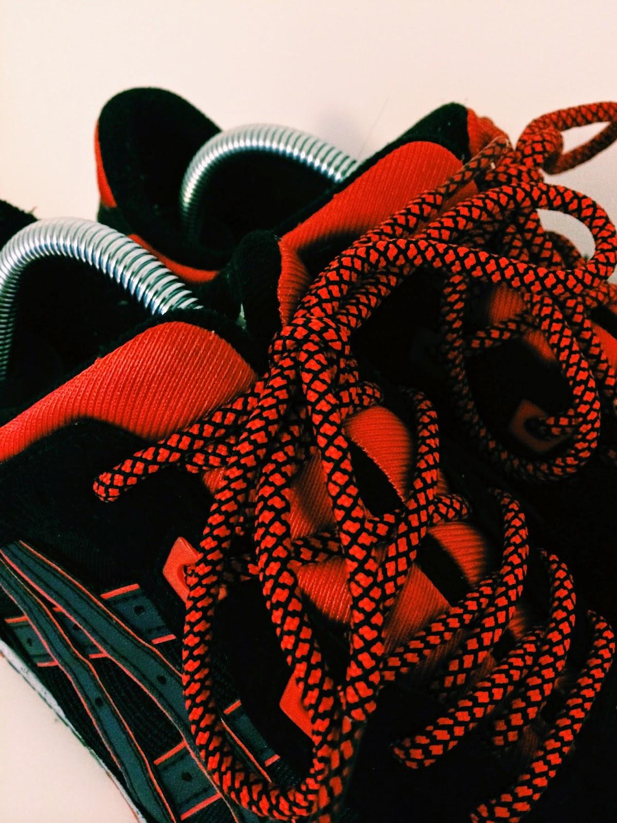 ropes laces custom laces asics kith caviar gel lyte iii
