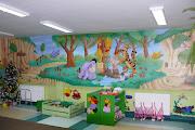 Artystyczne malarstwo ścienne, malowanie w przedszkolu.