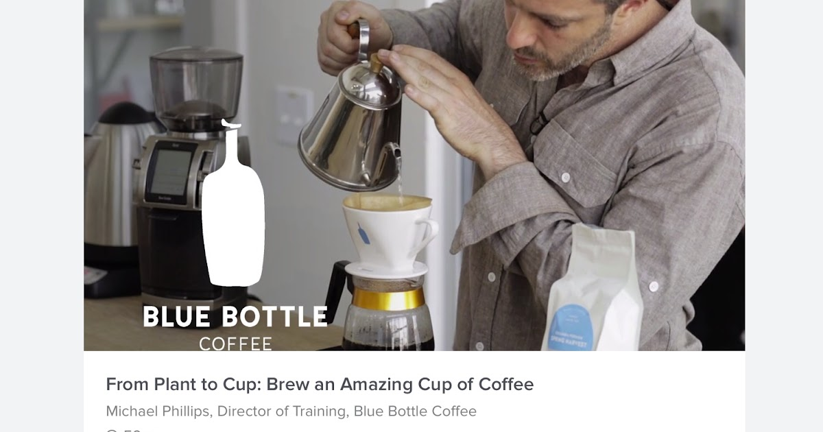 Let Michael Phillips from Blue Bottle Coffee Teach You How to Brew an Amazing Cup of Coffee