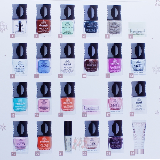 alessandro beauty advent calendar 2014 nail polish