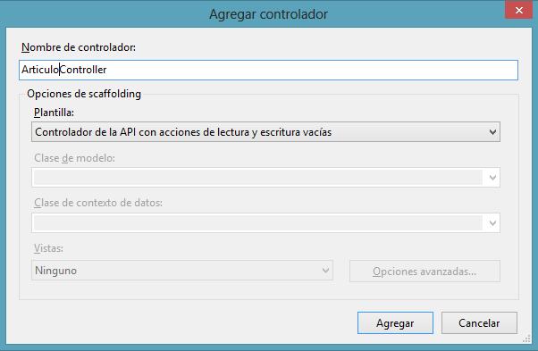 areaTIC, ASP.NET MVC 4.0, Seleccionar controlador