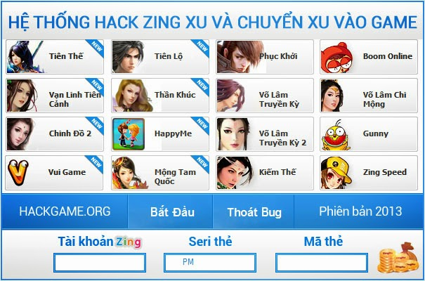 Hack xu coupon zing speed