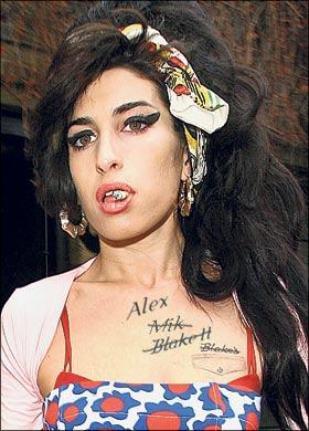 Amy winehouse chest tattoo
