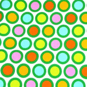 Tela - Circulos verdes