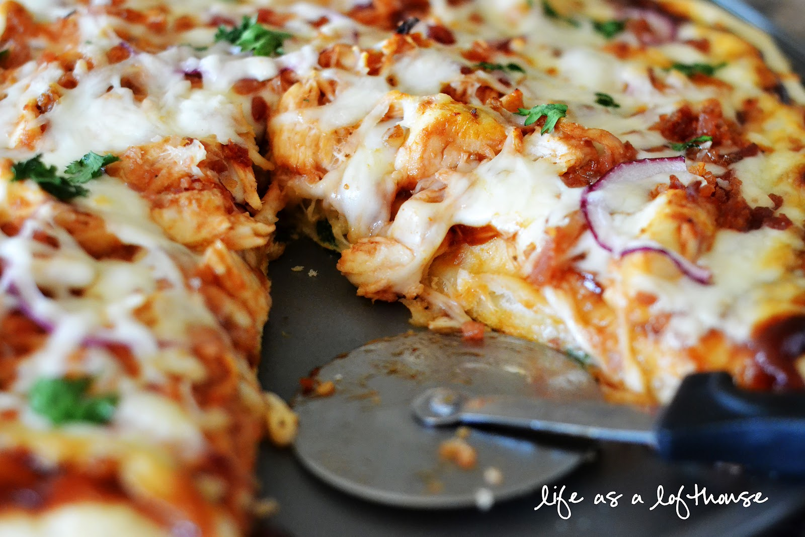 BBQ Chicken & Bacon Pizza - Life In The Lofthouse