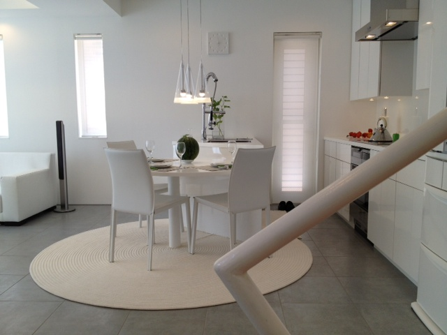 Small round dining table in the kitchen