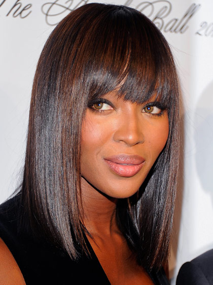 Long Bob with Bangs for Black Women