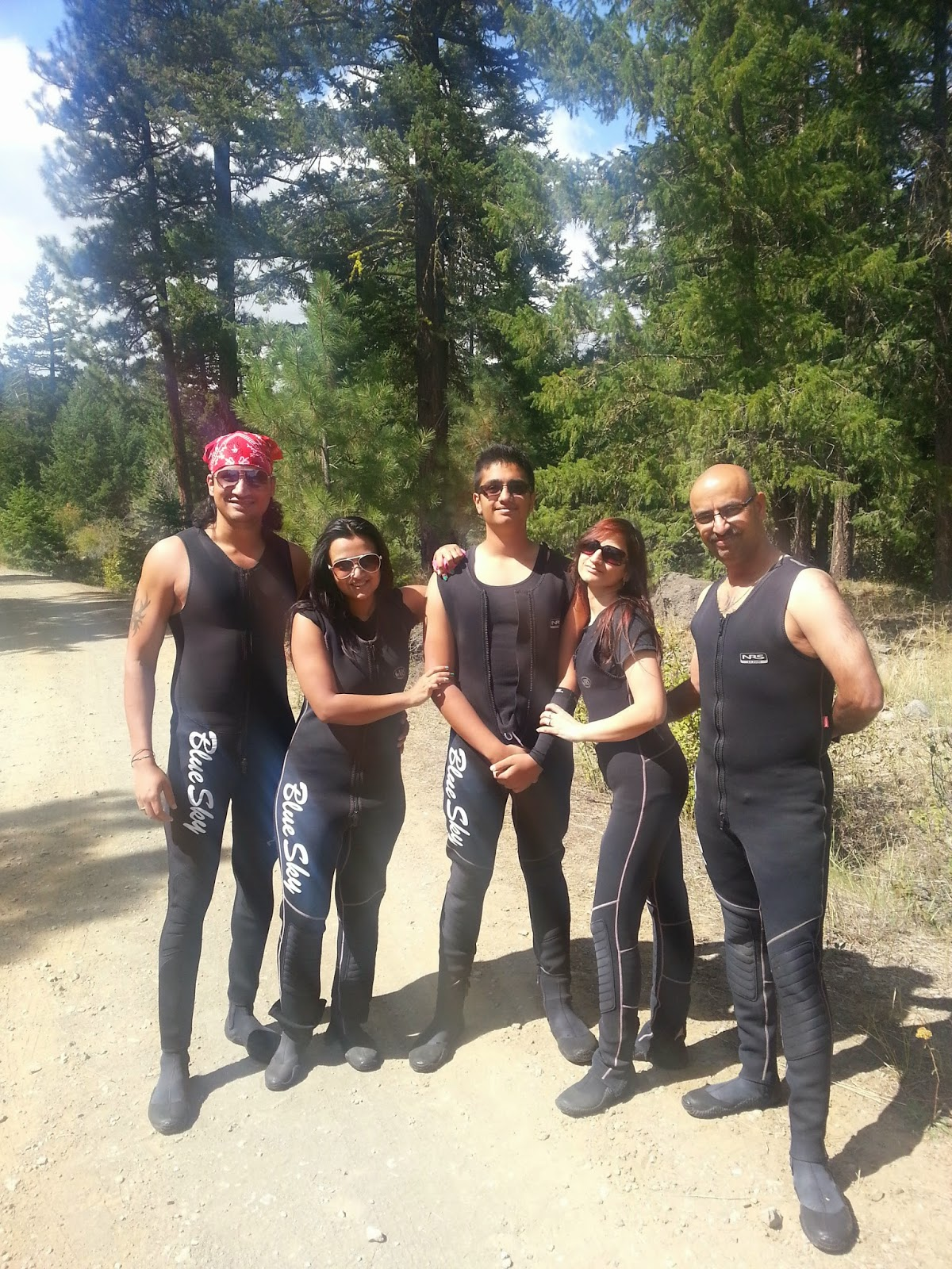 Best Rafting experience, Indian family outings in USA, Things to do near Seattle, people in black wet suits