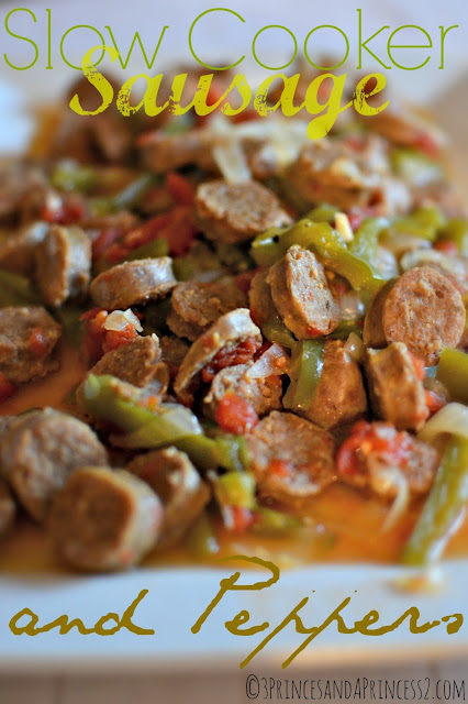 Slow Cooker Sausage and Pepper #Recipe