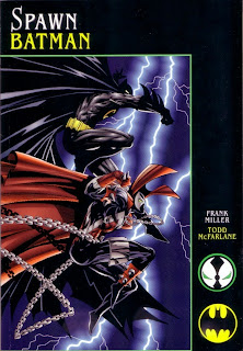 Front cover of Spawn vs Batman graphic novel from Image Comics