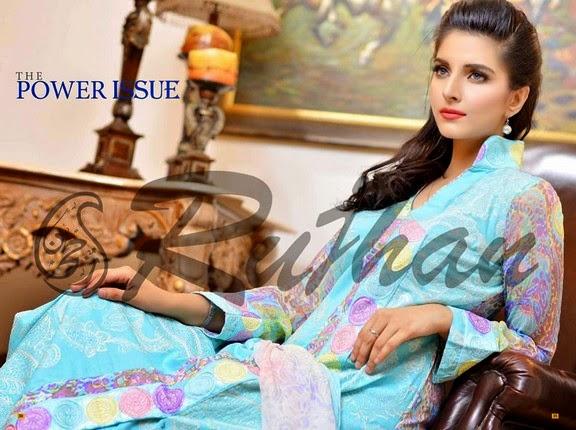 FestivanaEidCollectionByRujhanFabrics wwwfashionhuntworldblogspot 7  - Festivana Eid Collection 2014-2015 By Rujhan Fabrics