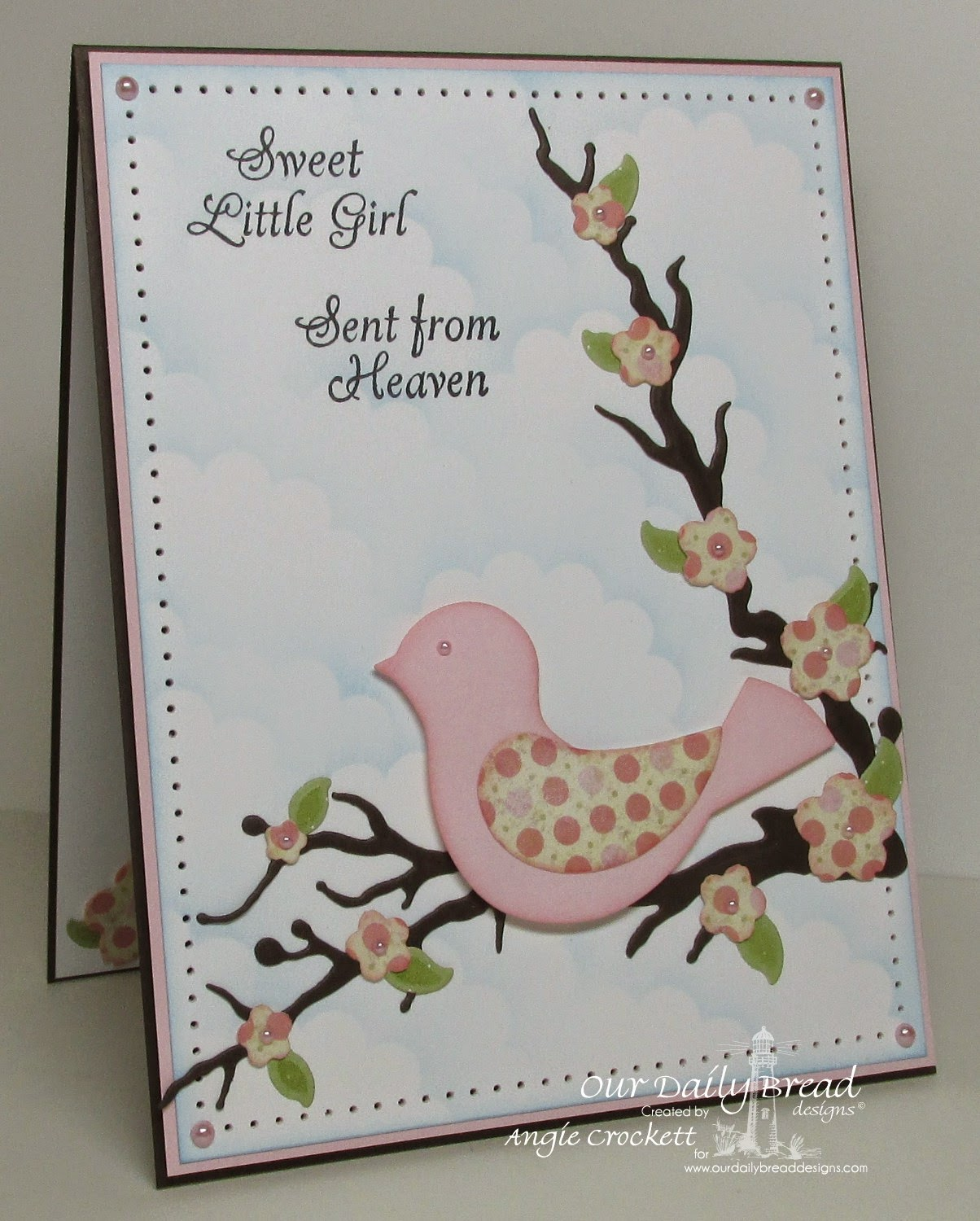 ODBD Little Girls, ODBD Blushing Rose Paper Collection, Card Designer Angie Crockett