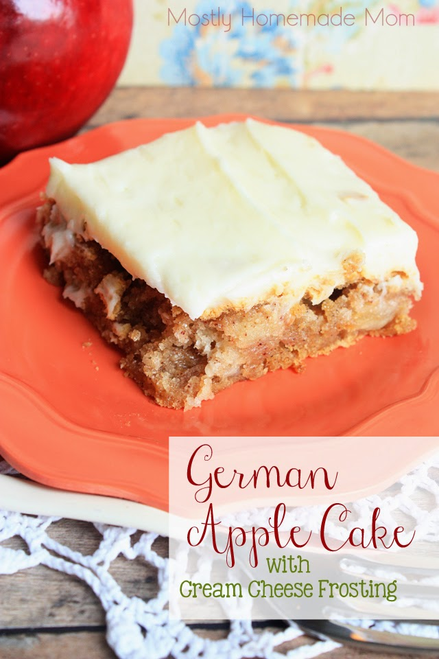 German Apple Cake With Cream Cheese Frosting