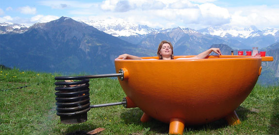 Portable Orange Hot Tub