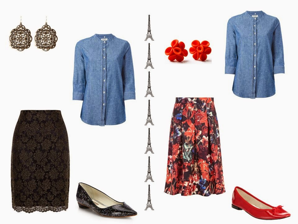 Can you wear a denim shirt with a dressy skirt? Yes!