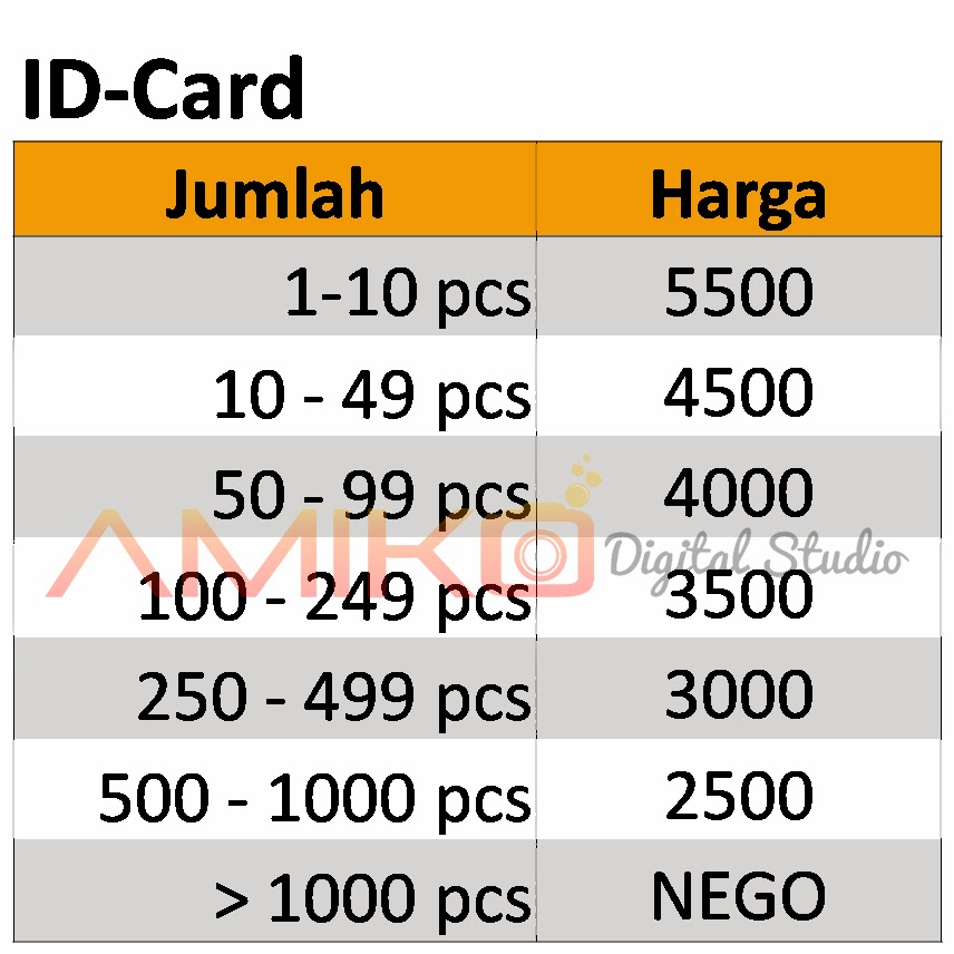 Design banner cetak foto - Amiko Promosi Souvenir Surabaya Pesan Buat Cetak Id Card