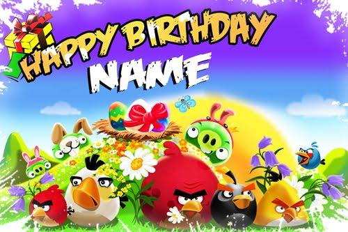 Angry Birds Birthday Cards