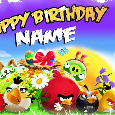 Angry Birds Birthday Template PSD